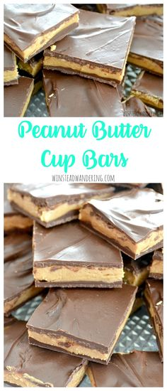 Homemade Peanut Butter Cup Bars are a no-bake, four-ingredient, gluten-free alternative to the packaged version. So easy, fast, and incredibly tasty!
