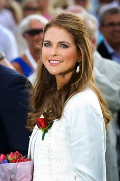 Swedish Princess Madeleine during the celebrations of Crown Princess Victoria's 36th birthday in Borgholm, Sweden, 14 July 2013