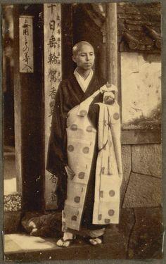 Priest. Nagasaki, Japan, 1868. by National Museum of Denmark, via Flickr
