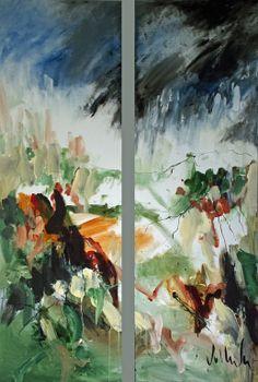 "SOLD Jac Volbeda Painting ""Scotland"" #volbeda #art 100 x 150 cm"