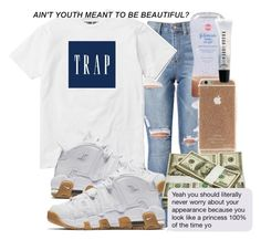 """""""Untitled #344"""" by bxbysnoop ❤ liked on Polyvore featuring NIKE and Bobbi Brown Cosmetics"""