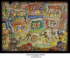 """Jean Dubuffet - 22 juin au 2 nov 2014 - Aux Capucins - Landerneau //  La série """"Paris Circus"""" marque un changement radical dans les thèmes devenus les autobus, défilés de piétons, vitrines de boutiques ou grands magasins d'une ville moderne, mais aussi dans la réapparition des couleurs bariolées des années 1940."""