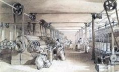 Swainson Birley Cotton Mill near Preston, Lancashire, This interior view of the mill shows women carding, drawing and roving the cotton. Industrial Revolution In England, Preston Lancashire, Social Studies Curriculum, Cotton Mill, Pen And Wash, Machine Photo, Woman Drawing, Lake District, World History