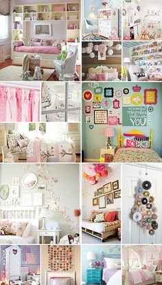 Girls Bedroom Ideas....frames