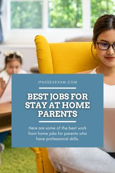 Are you a SAHM looking to make extra money from home? Or maybe you want to stay home and you're looking for that perfect career. Here are some of the best work from home jobs for parents who have professional skills. #enrolledagent #EA #remotework