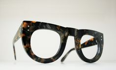 modified Ostrander frame, from the Inner and Outer Space series, hand-made in England from poly-chromatic vintage Italian acetate, designed and produced by General Eyewear.