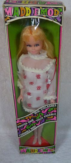 1968 Princess Grace Maddie Mod Doll, Orig Fashion, Box plus Cherry Frappe 1741 #DollswithClothingAccessories