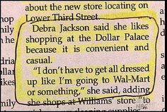What does she wear to the Dollar Palace, then?!