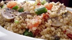 Quinoa with Mushrooms, Tomatoes & Scallions