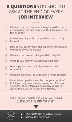 Questions you should ask at the end of every job interview. Need a resume that will land you a job interview? Job Interview Preparation, Interview Skills, Job Interview Questions, Job Interview Tips, Job Interviews, Good Interview Answers, Interview Techniques, Resume Skills, Job Resume