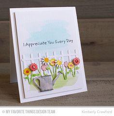 Heart Bouquet, Garden Fence Die-namics, Spring Garden Die-namics - Kimberly Crawford  #mftstamps