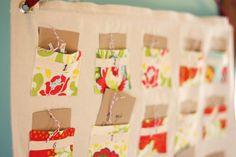 Diy back to school : DIY pocket advent calendar