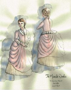 The Miracle Worker (Kate Keller). Costume design by Joscelyne Oktabetz. The Miracle Worker, Costume Design Sketch, Theatre, Costumes, Opera, Inspiration, Brown, Image, Art