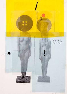 "Saatchi Art Artist Juan Nieto-Marín; Collage, ""Birdhouse. Voices // Casa de pájaros. Voces"" #art"