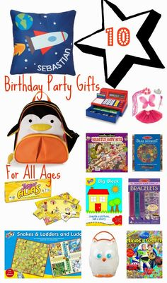 10 Birthday Party Gift Ideas For Kids
