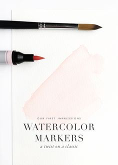 Watercolor marker review, links for where to buy and video reviews!