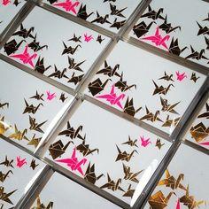 """""""Origami Flock is definitely a mix between quiet and loud #FoilStamped #Letterpress #Elum #ElumDesigns"""""""