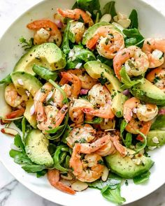 I could eat this Citrus Shrimp and Avocado Salad for breakfast, lunch an Whoa!& I could eat this Citrus Shrimp & and Avocado& Salad for breakfast, lunch and dinner! Shrimp Avocado Salad, Avocado Salad Recipes, Avocado Salat, Salad Recipes For Dinner, Dinner Salads, Salad With Shrimp, Shrimp Salad Recipes, Shrimp Dishes, Baked Shrimp Recipes