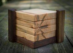 Ambrosia Maple Hardwood Coasters Set of 4 by MountainMuleHardwood