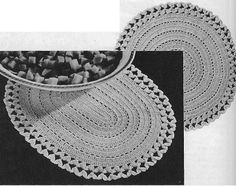 Free crochet pattern  Thread crochet oval  and circle