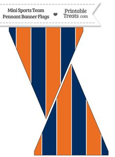 Astros Colors Mini Pennant Banner Flags from PrintableTreats.com