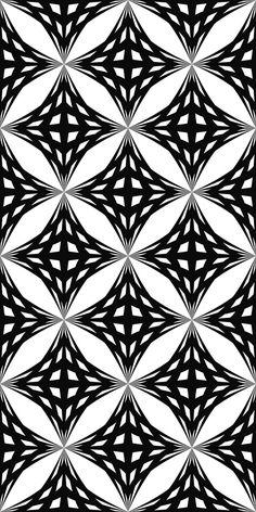 Seamless monochrome striped star pattern