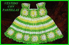 DE MIS MANOS TEJIDOS Y MAS...: Vestido a crochet con cuadrados