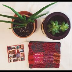 """Ketzali Xubal Recycled Textile Boho Bag OBSESSED with these beautiful Ketzali bags! They are handmade in Guatemala and created from recycled textiles. Each one is completely unique and one of a kind! This bag is 8"""" x 6.5"""". Great for make-up, organizing handbag contents, or carrying essential oils/yoga supplies/etc.! ✌️❤️ Ketzali Bags Cosmetic Bags & Cases"""
