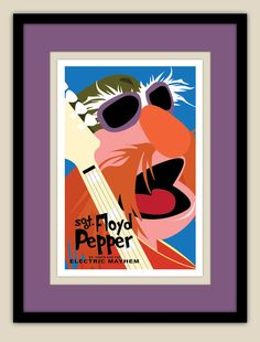 The Muppets  Sgt Floyd Pepper of The Electric by retroartprint, $20.00