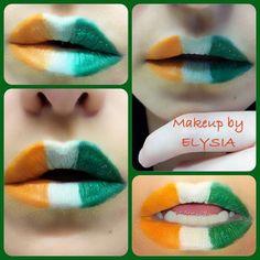 Irish flag! St. Patrick's day makeup!