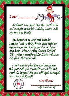 Elf On The Shelf Goodbye Letter  Christmas    Elves
