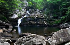 One of my favorite places in the world (so far!) Summer 2005, Wahconah Falls, MA while working at Camp Taconic.  Frigid, crystal clear waters that you can jump into off a ledge!  GORGEOUS!!!  Great memories!
