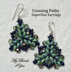 SuperDuo facilement boucles d'oreilles perles par mybeads4you