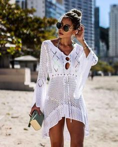2019 Sexy Bikini Cover Up Crochet Knitted Beach Cover Up Women Swimsuit Cover Up Beach Dress Bathing Suits Cover-Ups Beachwear Swimwear Cover Ups, Bikini Cover Up, Sexy Bikini, Swimsuit Cover Up Dress, Bikini Swimsuit, Women Bikini, Bikini Dress, Bikini Beach, Honeymoon Swimsuit