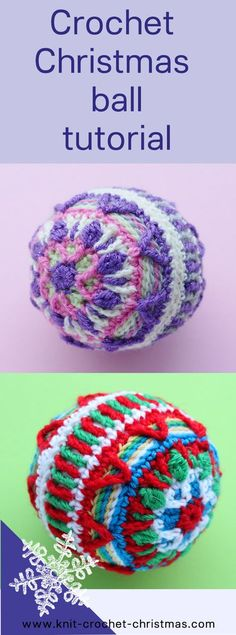 Crochet Christmas bauble tutorial. Overlay crochet.