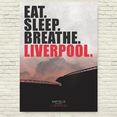"""Liverpool FC Poster """"Eat. Sleep. Breathe. Liverpool."""" – Full Squad Prints Liverpool Poster, Anfield Liverpool, Liverpool Champions, Liverpool Fc Wallpaper, Football Posters, Football Art, Liverpool Football Team, Women's Cycling Jersey, Cycling Jerseys"""