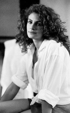 """Julie Roberts in Pretty Woman...wearing Richard Gere's shirt """"Big Mistake""""....not wearing this look more often"""
