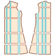 How to grade a pattern to a different size. This will really help on all the vintage patterns that are too small
