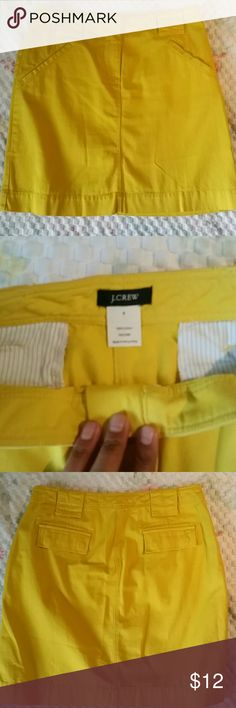 Skirt J.Crew Yellow pencil 100% cotton Jean skirt. J. Crew Skirts Pencil