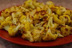 Roasted Cauliflower Recipe with Lemon, Curry, and Cumin  [from Kalyn's Kitchen] #SouthBeachDiet #lowglycemic #lowcarb #glutenfree #vegetarian #vegan