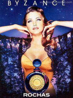 Byzance by Rochas Anuncio Perfume, Perfume Adverts, Diy Fragrance, Nadja Auermann, Hermes Perfume, Beauty Ad, Cosmetics & Perfume, Vintage Perfume, Parfum Spray