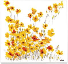 yellow california poppies: painted by vera neumann