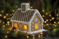 Gingerbread House Designs, Christmas Gingerbread House, Christmas Cookies, Gingerbread Cookies, Gingerbread Village, Christmas And New Year, Christmas Fun, Christmas Decorations, House Decorations