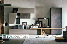 Ital Solutions Atlante wall unit with bench by Space Solutions Toronto