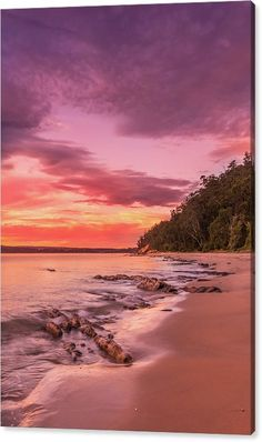 Limited Time Promotion: Sunset Shores Stretched Canvas Print by Racheal Christian - To Buy Visit http://racheal-christian.pixels.com/weeklypromotion.html?promotionid=204373