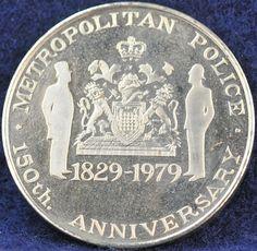 Metropolitan Police 1829-1979 150th Anniversary - Challengecoins.ca Challenge Coins, Police, Anniversary, Personalized Items, Law Enforcement