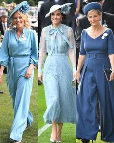 With Royal Ascot having concluded for let's take a look back at the outfits worn by the Royal ladies. Let me know your favourite! Diana, Estilo Kate Middleton, Princesa Kate, Kate Middleton Prince William, Elisabeth Ii, British Royal Families, Royal Clothing, Royal Dresses, Royal Ascot