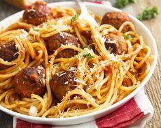 Spaghetti aux boulettes de veau