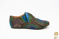 Starry Night Belyas handmade brogue shoes made of par belyashop, $90.00