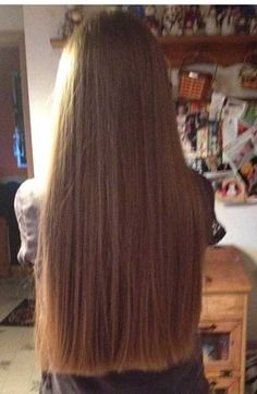 10.Long Hair with Blunt Cut